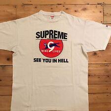 Supreme NYC 9 Lives Vintage 2008 T-shirt LARGE Box Logo Motion Kermit Kaws Cap
