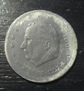 RARE-monnaie-munt-Belgique-Belgie-euro-SPECIMEN-plomb-lood-Albert-II-16-10-1997