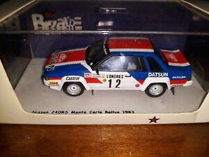 Bizarre 1/43 Nissan 240rs # 12 Rallye Monte Carlo 1983 Bz217