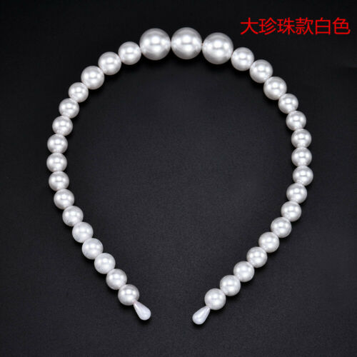 Women Cute Cat Ear Imitation Pearl Hoops Headband Casual Hair Accessories Gift