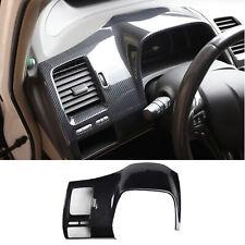 Carbon Fiber Dashboard Decoration Cover Trim For Honda Civic 8th 2006 2011 Fits 2006 Civic