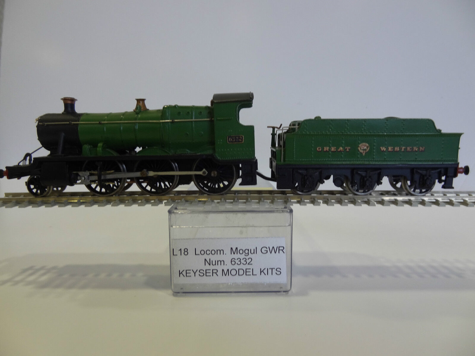 KEYSER MODEL KITS H0 - LOCOMOTIVE STEAM L-18 GWR 2-6-0