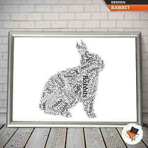 PERSONALISED-RABBIT-WORD-ART-FOR-BIRTHDAY-OR-CHRISTMAS-PRESENT-KIDS-CHILDREN-y