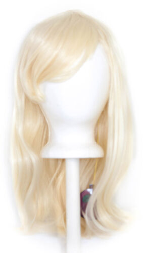 20/'/' Wavy Cut with Long Bangs Flaxen Blond Cosplay Wig NEW