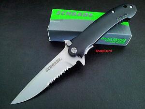 Schrade-4-5-034-Urban-LIne-Lock-Drop-Point-Combo-Edge-SCH223S-Folding-Pocket-Knife