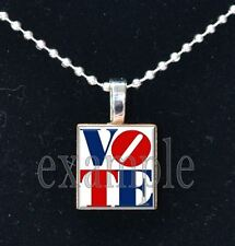 VOTE USA America Scrabble Tile Necklace Pendant Charm or Keychain~Great Gift!!