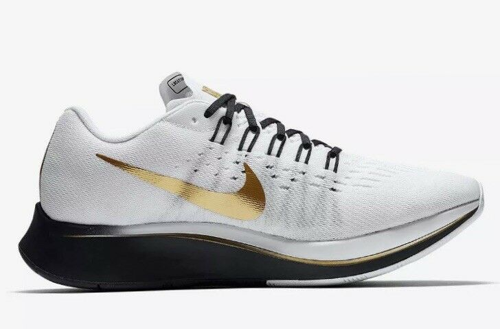 "Nike Zoom Fly ""Mismatch"" Black White gold (880848 006) BNIB  SZ  9 RARE  Running"
