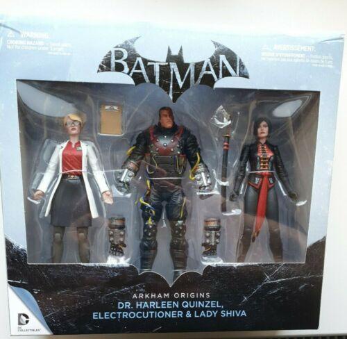 "7/"" Batman Arkham Origins Action Figures Set Shiva electrocutioner Quinzel"