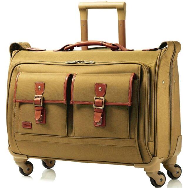 Hartmann Hudson Belting Carry On Spinner Garment Bag 56663 1473 Khaki 730 Nwt