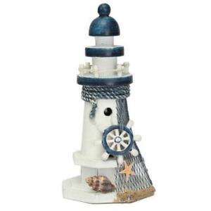 Sea-Themed-en-bois-Phare-nautique-Sculpture-Fete-D-039-Anniversaire-Decoration-Cadeaux