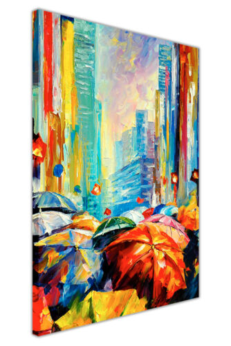AT54378D Umbrella By Leonid Afremov Canvas Art Print Wall Picture Painting Print