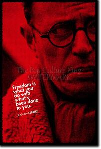 Jean Paul Sartre Art Print Photo Poster Gift Quote Jean Paul Ebay