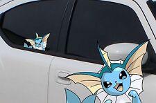 "Pokemon Vaporeon Anime 7"" Window Car Decal, Sticker, Eevee Evolution, Pokemon Go"
