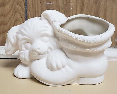 Ceramic Bisque Puppy Boot Planter  pohc 106b U-Paint Ready To Paint