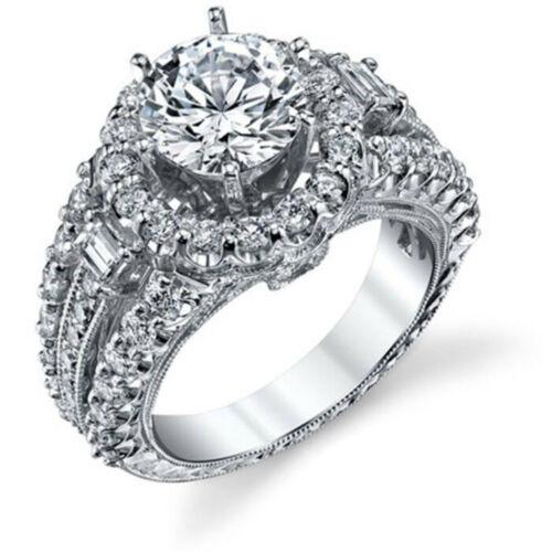925 Silver White Sapphire Wedding Band Rings Set Women Fashion Jewelry Size 6-9