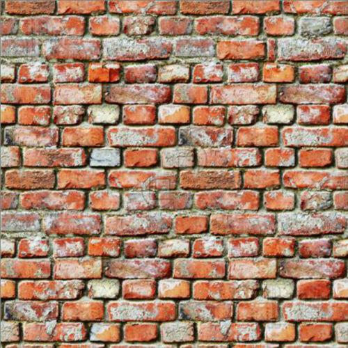 ADHESIVE BACK v1 # 5 SHEETS BRICK brick wall 21x29cm 1//12  Scale BUMPY EMBOSSED