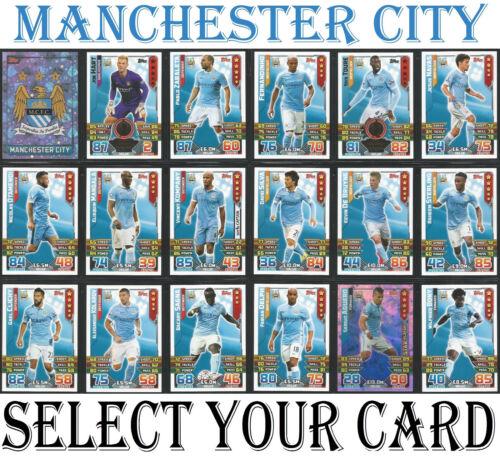 Manchester City Match Attax 2015//2016 Incl Hombre Del Partido Duo Insignia Tarjetas