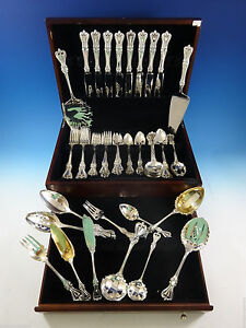 Old-Colonial-by-Towle-Sterling-Silver-Flatware-Set-for-8-Service-69-Pcs-Dinner