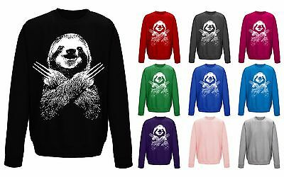 Kids Childrens Pocket Sloth Cute Pet Animal Funny T-shirt 5-13 Years