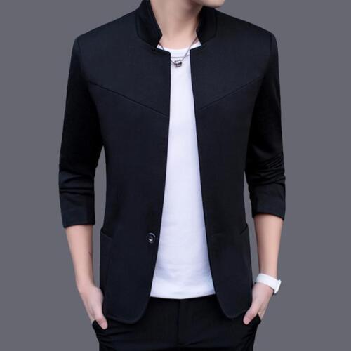 Men/'s Casual Slim Fit Formal costume un bouton Blazer Business Veste Tops