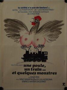 Affiche-Cinema-UNE-POULE-UN-TRAIN-1969-RISI-Manfredi-Koscina-60x80