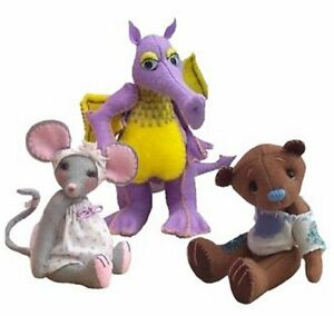Felt-soft-toy-sewing-kits-by-pcbangles-Mouse-Dragon-Teddy-bear-or-all-three