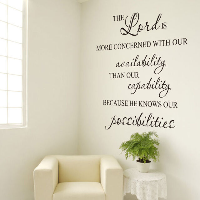 Bible Lettering Quote Wall Stickers Art Decal Mural Home Room Décor Xmas Gift