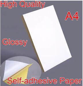 A4-Selbstklebende-Aufkleber-Papier-Blaetter-Laserdrucker-Adress-Grafik-Etiketten