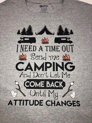 Mens Funny T-Shirt Traveller Festival Caravan Tent Camping Awesome Camper