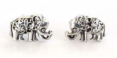 Sterling Silver Miniature Elephant Stud Earrings - Gift Boxed