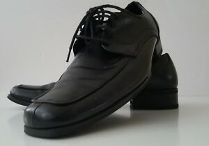171c1ee3dca Steve Madden Mens Evollve Black Leather Square-Toe Oxfords Shoes 8M ...