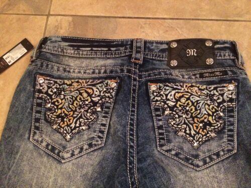 34 Cut Broderi Wash Jeans Signatur Acid Boot Miss Me X Nwt 28 Udsmyket Fq8xwvYPE