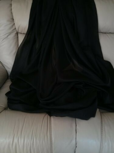 "Black Sheer Voile 116/"" wide for wedding  party decoration backdrop free swatch"