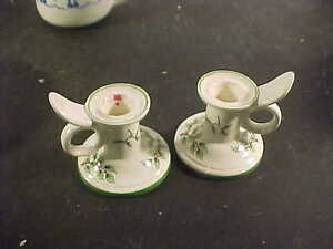Spode Christmas Tree Ring Handle Candle Holders | eBay