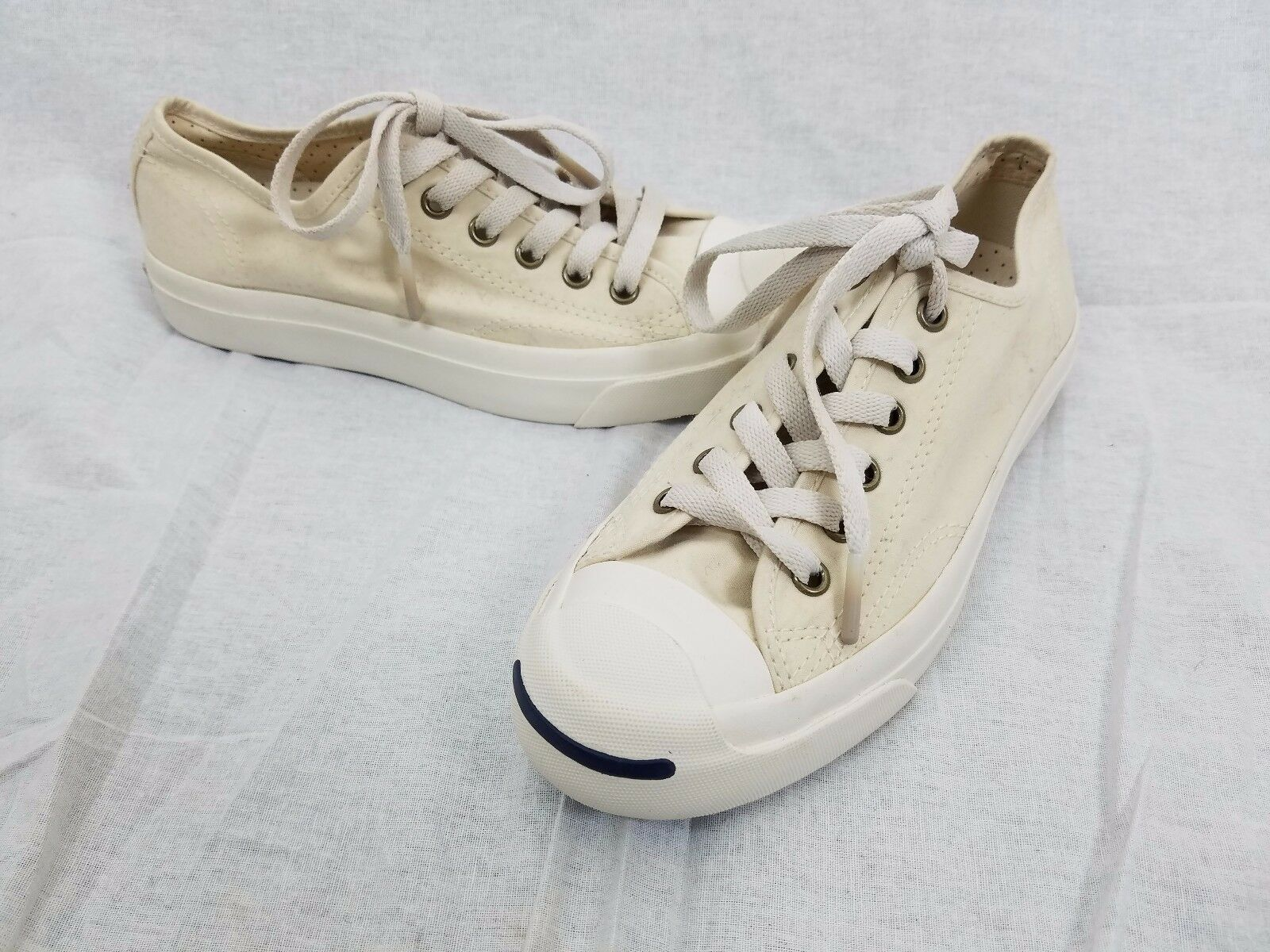 Converse Jack Purcell Factory Samples Unisex Mens 5 Womens 7 Cream Ivory Natural