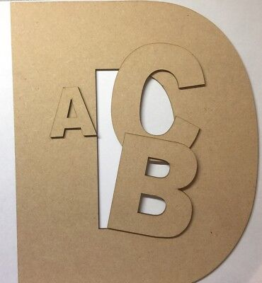 Wooden Hanging MDF laser cut Alphabet Arial Letters /& Numbers,3mm Thick craft