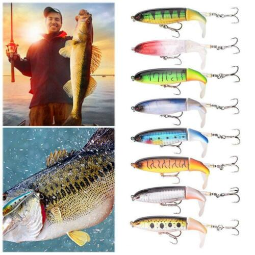 13G//10CM Fishing Topwater Lures Fishing Lure Rotating Tail Bait Pike Tackle