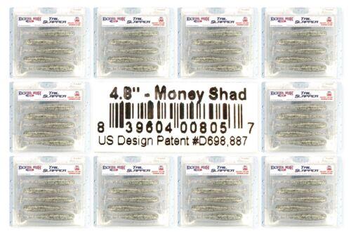"Packs Of 5 Kicker Fish Tail Slapper 4.8/"" Swimbaits Money Shad Made USA New 10"