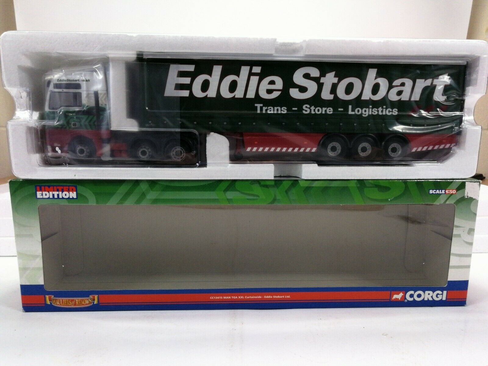 Corgi CC13415 MAN TGA XXL Curtainside Eddie Stobart Ltd(2)