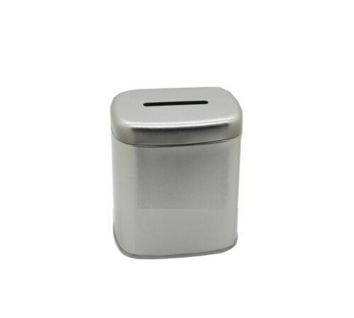 10PK Metal Donation Can Fundrasiging Can Coin Collection Tin Can Piggy Bank Can
