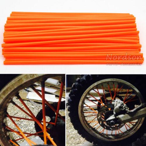 72x Wheel Spoke Wraps Skins Coat Trim Cover Pipe Motorcycle Motocross Dirt Bike