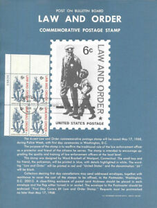 1343-6c-Law-and-Order-Stamp-Poster-Unofficial-Souvenir-Page-Flat-PB4