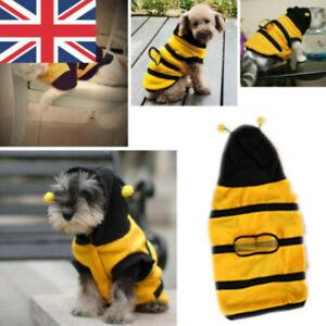 Uk Pet Puppy Bee Coat Jumper Fleece Hoodies Clothes Small Dog Cat Costume Ebay