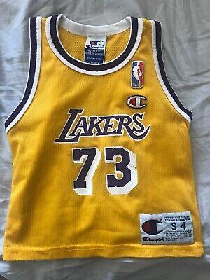 Los Angeles Lakers Rare Vintage Champion Dennis Rodman Jersey Pre-School size S4 | eBay
