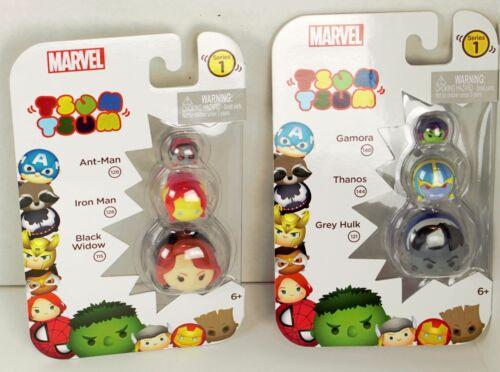 LOT of 2 Marvel Tsum Tsum Ant Man Iron Man Black Widow Grey Hulk Thanos Gamora