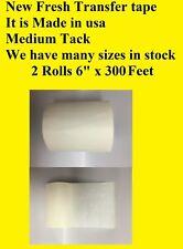2 Rolls 6 X 300 Feet Application Transfer Tape Vinyl Signs Adhesive Made Inusa