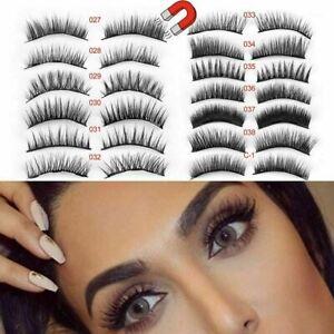 3D-Magnetic-Eyelashes-Reusable-Triple-Magnet-Long-False-Eye-Lashes-Extension-UK