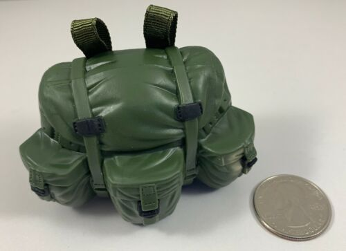 MILITARY GREEN BACKPACK 1//6 Scale LOOSE Rare Accessory Hasbro GI Joe U.S