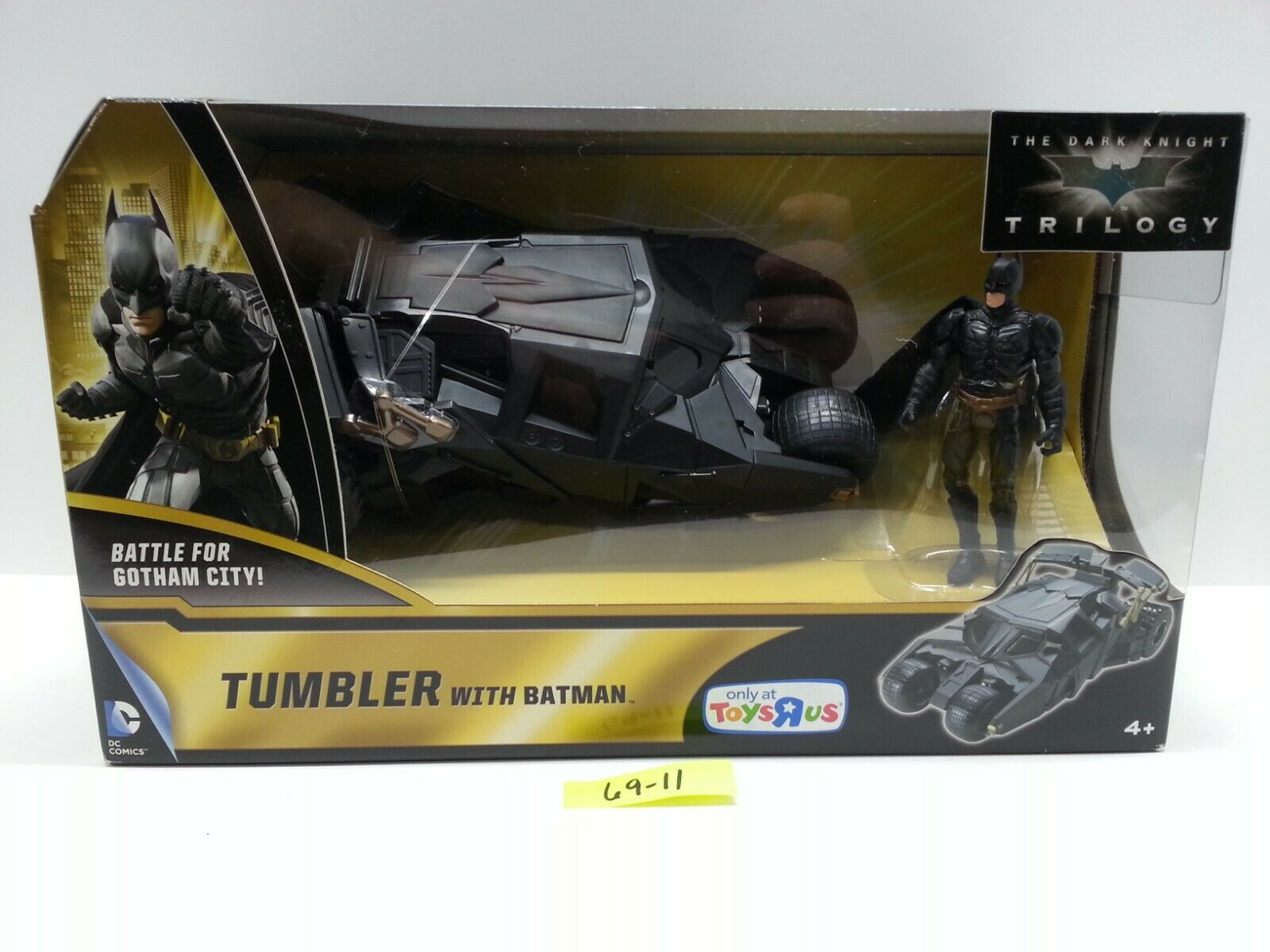2013 Mattel Dark Knight Trilogy TRU - TUMBLER with BATMAN Action Figure MIB