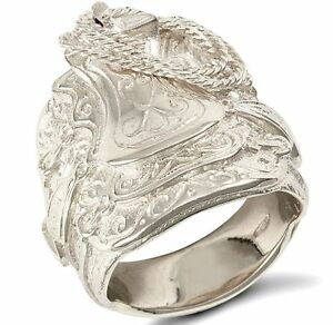 Sterling-Silver-Solid-Gents-Saddle-Ring-Many-Sizes-FREE-POSTAGE-Hallmarked-48-g